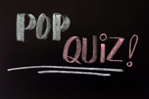 11939478 - pop quiz written in chalk on a blackboard