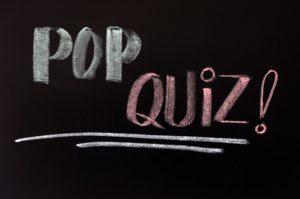 11939478 - pop quiz written in chalk on a blackboard